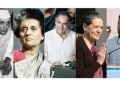 (COMBO) This combination of file pictures created on December 6, 2017 shows (L-R) the first prime minister of India Jawaharlal Nehru in India in 1946; Nehru's daughter Indira Gandhi, the third prime minister of India, on an official visit to Paris in November 1971; her son Rajiv Gandhi, the sixth prime minister of India, in New Delhi on May 20, 1991; his wife Sonia Gandhi, long-time president of India's Congress Party, in New Delhi on December 4, 2013; and Rajiv and Sonia Gandhi's son Rahul Gandhi, Indian Congress Party leader, in Ghaziabad on February 8, 2017. Rahul Gandhi's nomination as president of the Congress Party follows years of speculation that he would succeed his mother in the role he has been prepared for since birth. / AFP PHOTO / -