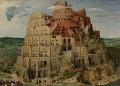 ഭാഷകളുടെ ഉൽപത്തി (ബൈബിൾ) ഡച്ച് ഫ്ലെമിഷ് നവോത്ഥാന ചിത്രകാരൻ പീറ്റർ ബ്രൂഗ്വെലിന്റെ (Pieter Bruguel) The Tower of Babel എന്ന പെയിന്റിങ്
