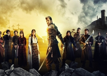"A promotional image for the Turkish television series ""Dirilis: Ertugrul.""Credit... TRT 1 TV"