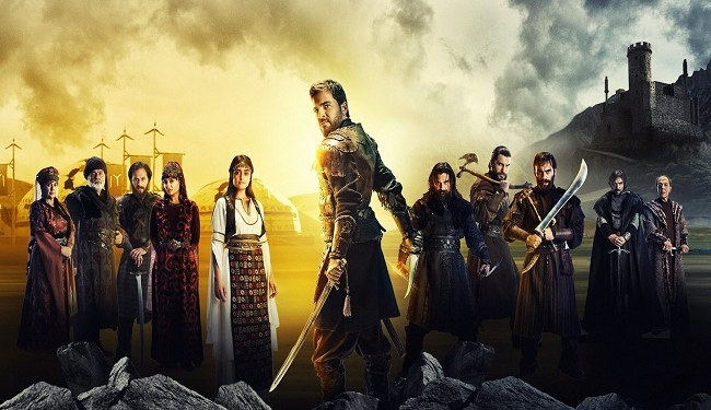 """A promotional image for the Turkish television series """"Dirilis: Ertugrul.""""Credit... TRT 1 TV"""
