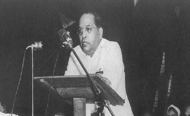 On 20 May 1951, Dr. Ambedkar addressed a conference on the occasion of Buddha Jayanti organised at Ambedkar Bhawan, Delhi. Credit: Wikimedia Commons