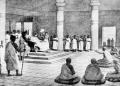 മിളിന്ദനും -മെനാൻഡർ- നാഗസേനനും തമ്മിലുള്ള സംവാദത്തിന്റെ ചിത്രീകരണം