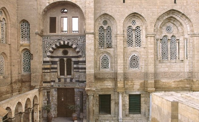 In Egypt, the al-Mansur Qalawun Complex in Cairo includes a hospital, school and mausoleum. It dates from 1284-85.