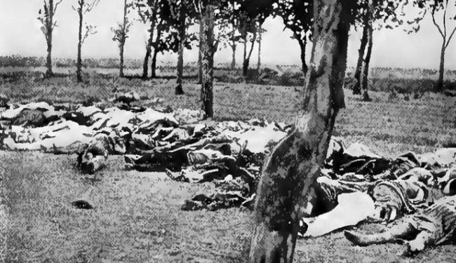 Armenian Genocide Bodies in a field, a common scene across the Armenian provinces in 1915 .