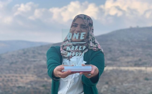 Palestinian journalist Shatha Hammad won the One World Media 'New Voice' prize
