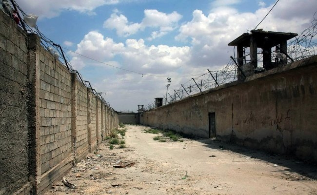 A prison in the northern Syrian city of Aleppo in 2014